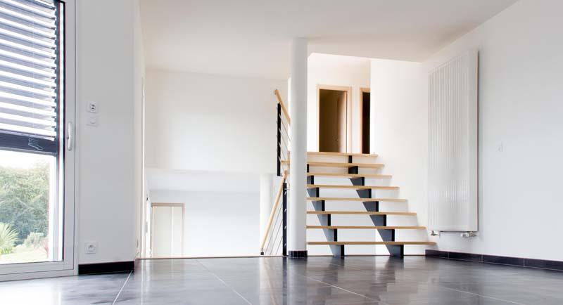 Escaliers constructeur de maison haut de gamme - Escalier maison contemporaine ...