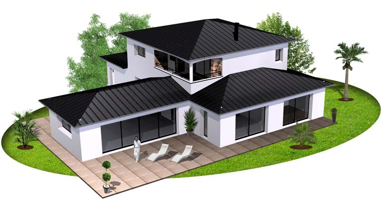 maison contemporaine 5 constructeur de maison haut de gamme finistere et morbihan. Black Bedroom Furniture Sets. Home Design Ideas