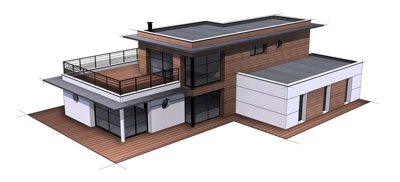 Maison contemporaine 13 constructeur de maison haut de for Constructeur de maison haut de gamme