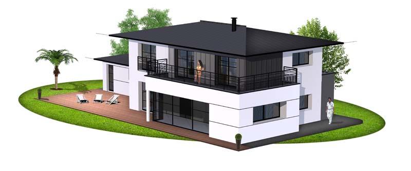 Maison contemporaine 16 constructeur de maison haut de for Constructeur de maison haut de gamme