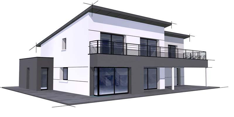 Maison contemporaine 3 constructeur de maison haut de for Maison moderne finistere