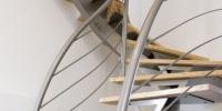 escalier etage tout metal